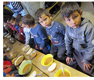 A Roma village soup kitchen project.