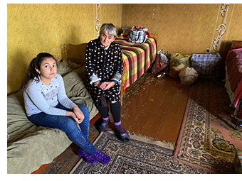 A family being supported in Armenia