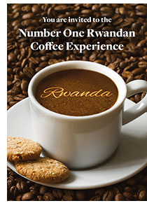 Cover of the coffee experience invitation card