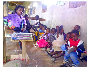 A classroom at the Labour of Love School
