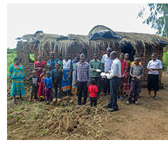 A church in Malawi receiving printed resources via MPUK