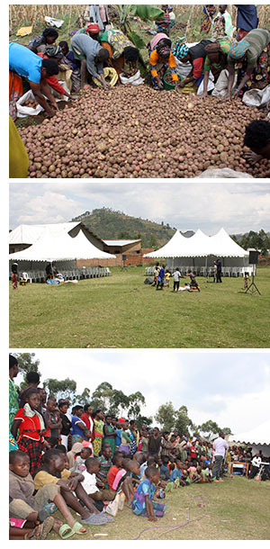 HMP in Rwanda, the new marquees and chairs and attendees at one of the sessions
