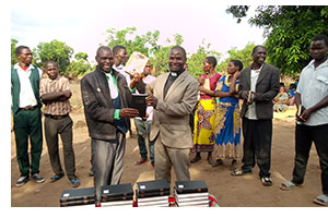 The latest distribution of Bibles in Jackson, Malawi